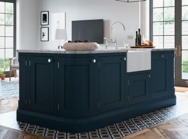 Bespoke Kitchen Dark Blue