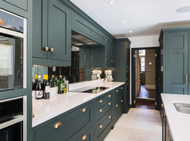 Bespoke Kitchen Dark Green