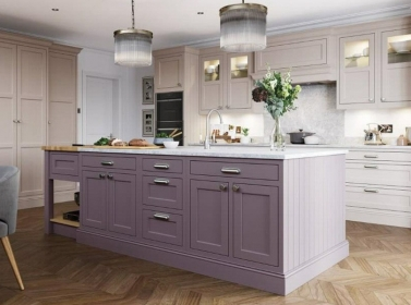 Bespoke Kitchen Purple
