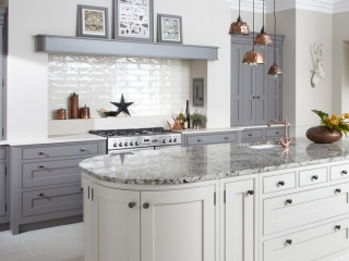 Bespoke Kitchen White Grey