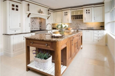 Bespoke kitchen Cream Walnut