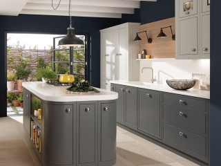 Bespoke kitchen Grey White