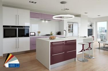 Blackbury Lilac White Gloss Kitchen