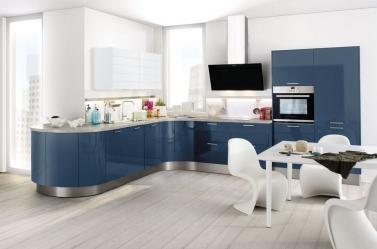 Blue Gloss Kitchen HA