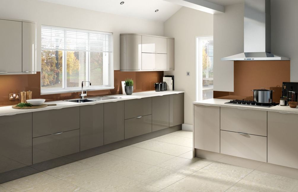 Gloss kitchens for Fitted kitchen quotes