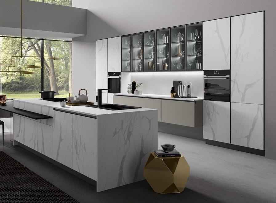 Ceramic effect kitchen