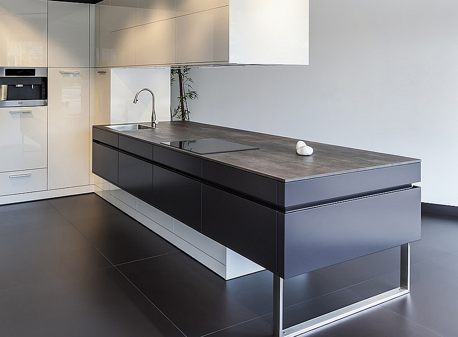 ceramic worktops neolith iron grey kitchenfindr. Black Bedroom Furniture Sets. Home Design Ideas
