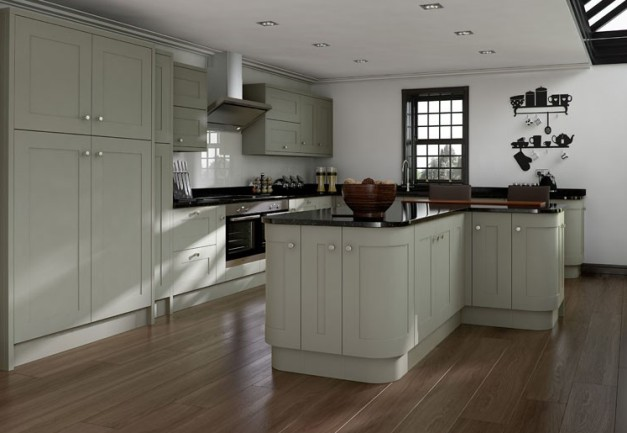 The Best Budget Contemporary Shaker Kitchens - Light grey kitchen doors