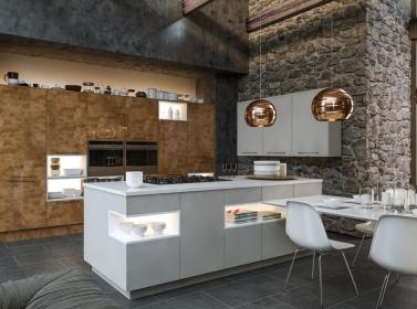 Copper Gloss Kitchen BA