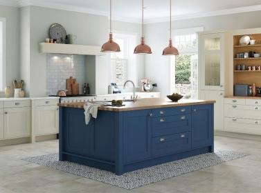 Country Kitchen Blue & Cream