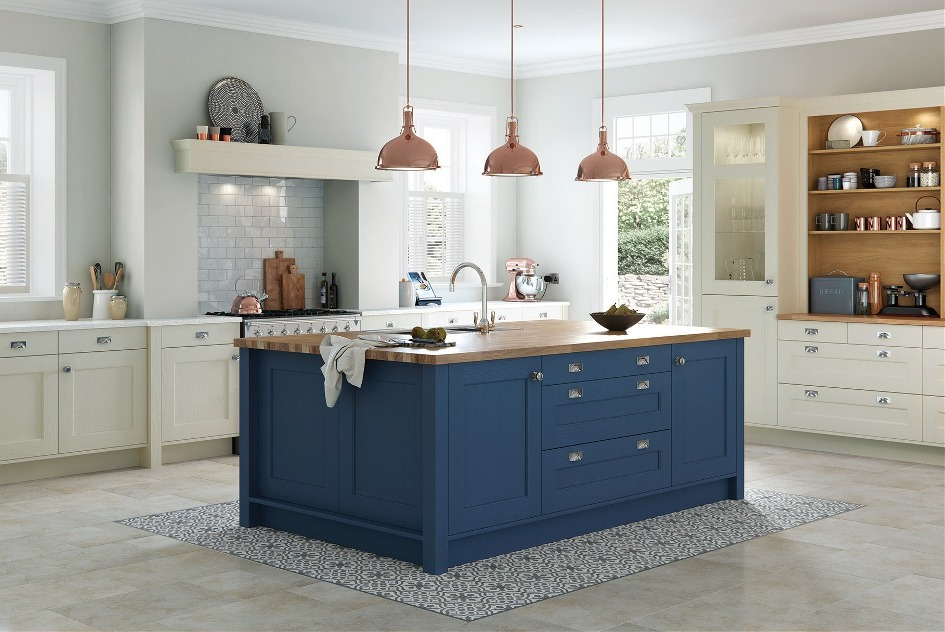 blue country kitchens. Country Kitchen Blue \u0026 Cream Kitchens B