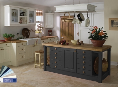 Country Kitchen Charcoal Cream White