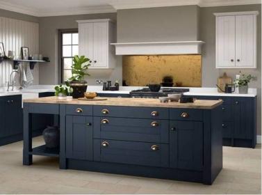 Country Kitchen Dark Blue