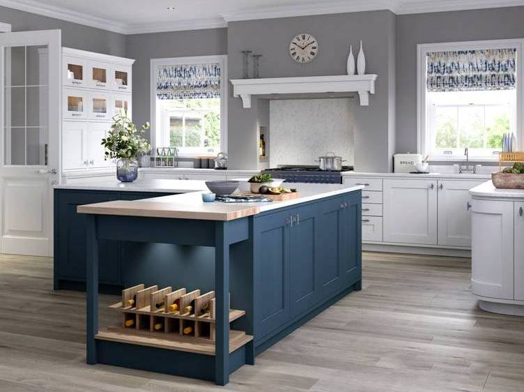 Country Kitchen Dark Blue & New Country Kitchens Gallery