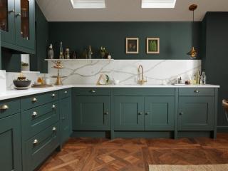Country Kitchen Dark Green