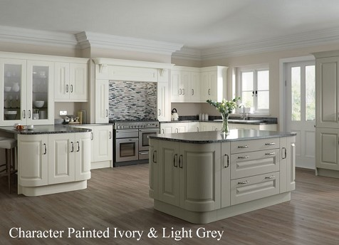 Country Kitchen Grey Cream