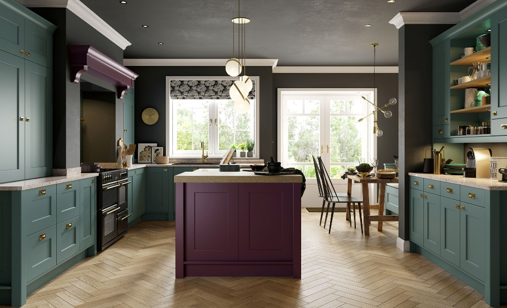 Country Kitchen Heather Purple