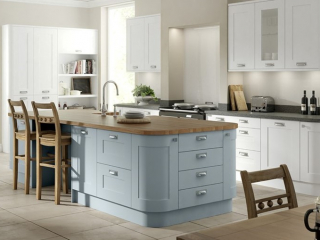 Country Kitchen Light Blue