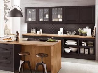 Painted Kitchen Black