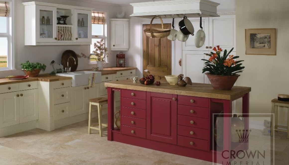 Country kitchen Red & Cream