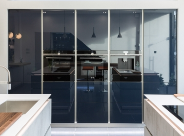 Dark Blue Gloss Kitchen