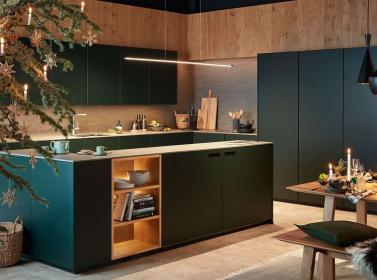 Dark Green Matt Kitchen