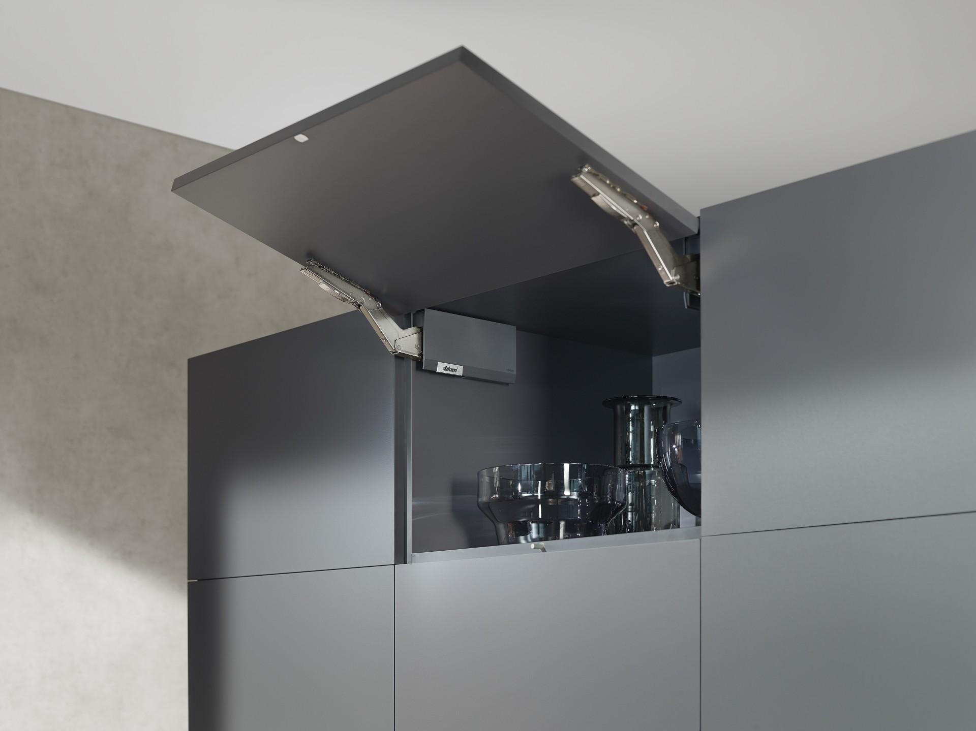 Dark kitchen with dark interior 3
