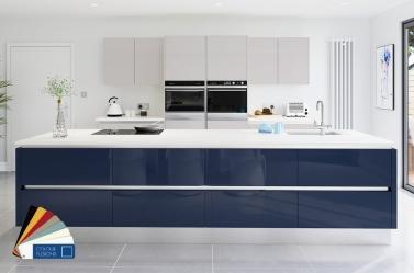 Dark Blue Cashmere Gloss Kitchen