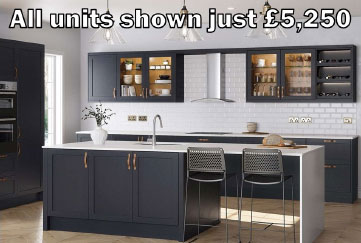 Dark Blue Shaker Kitchen