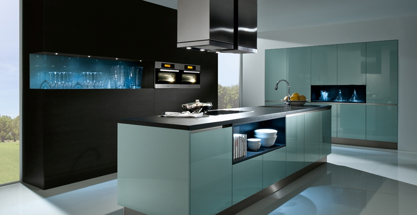 Beau Designer Kitchen Blue