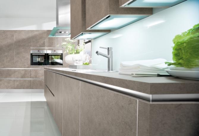 Designer Kitchen Grey Beige