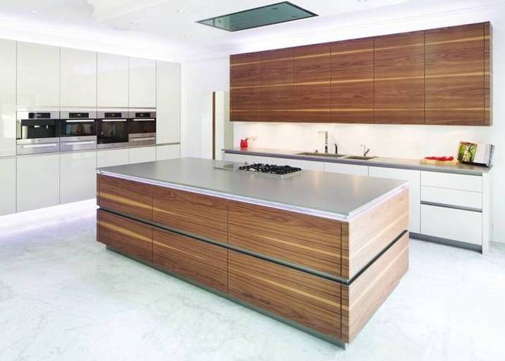 Designer Kitchen Walnut Bookmatched RP