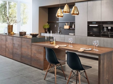 Designer Kitchen Wood Metal ZEY