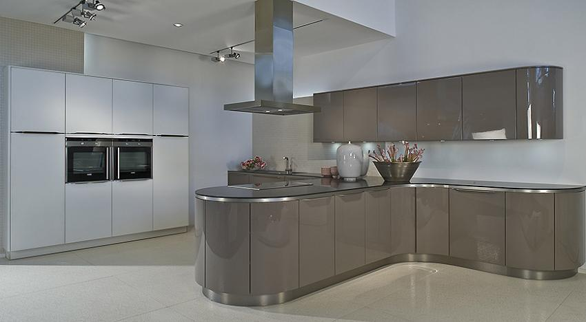 Designer Kitchen Grey White Kitchenfindr