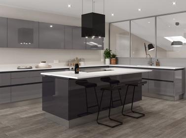 Dust Grey Gloss Kitchen