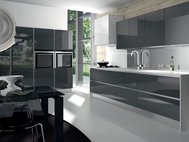 Kitchen Design Trends For Your Kitchen Broker - Dark grey gloss kitchen