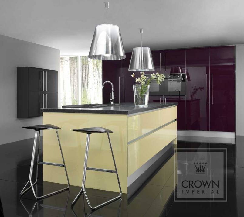 How to tell the quality of a gloss kitchen for Dark orange kitchen
