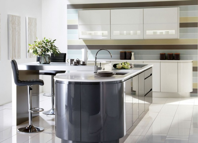 Graphite Grey Porcelain Gloss Kitchen