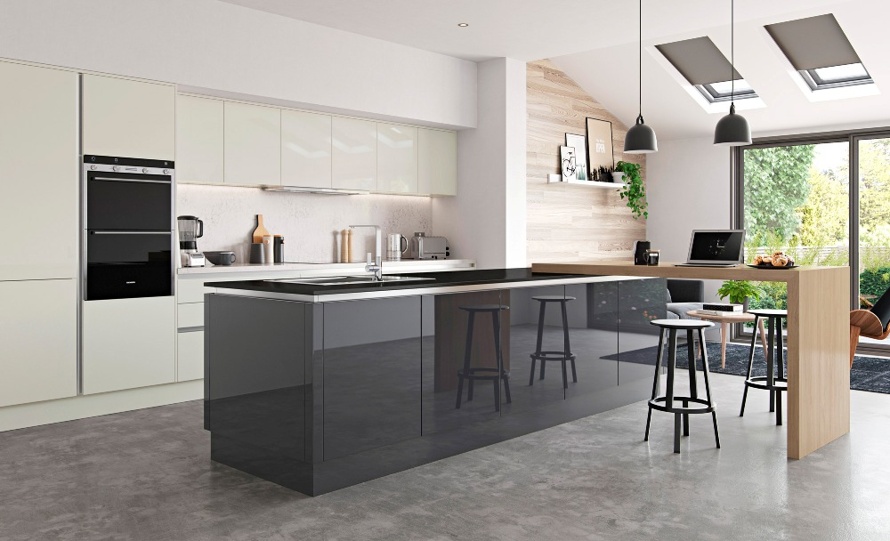 Graphite Porcelain Gloss Kitchen