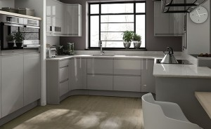 Grey gloss kitchen Howdens kitchen design reviews
