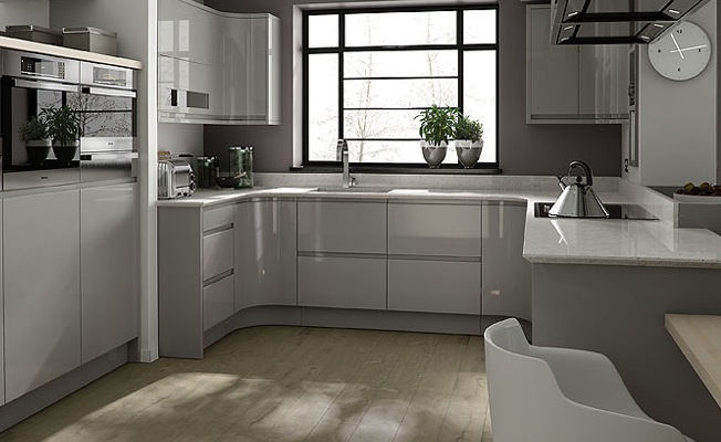 Kitchen design trends for Kitchen units grey gloss