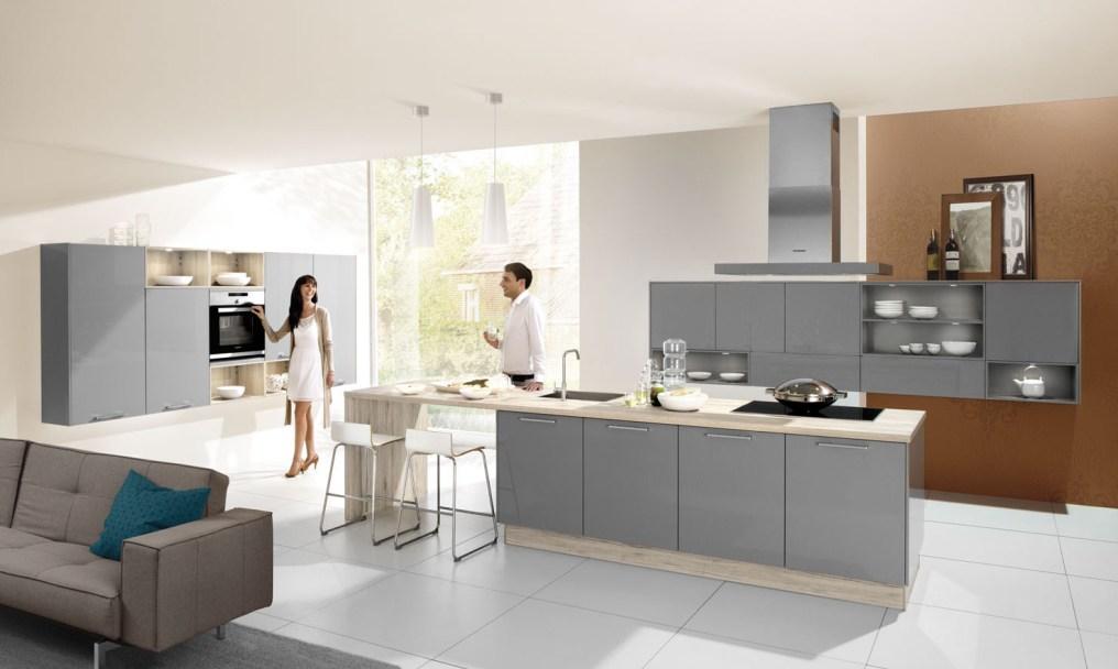 Grey Gloss Kitchen HA