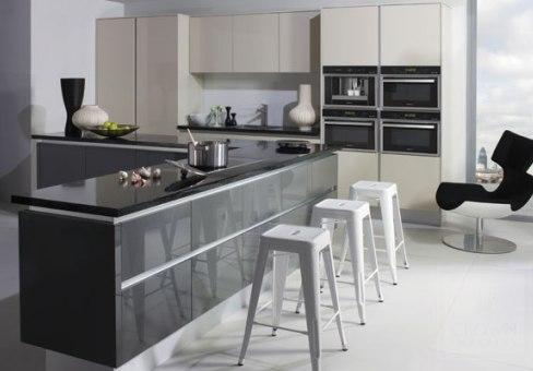 Grey Stone Gloss Kitchen