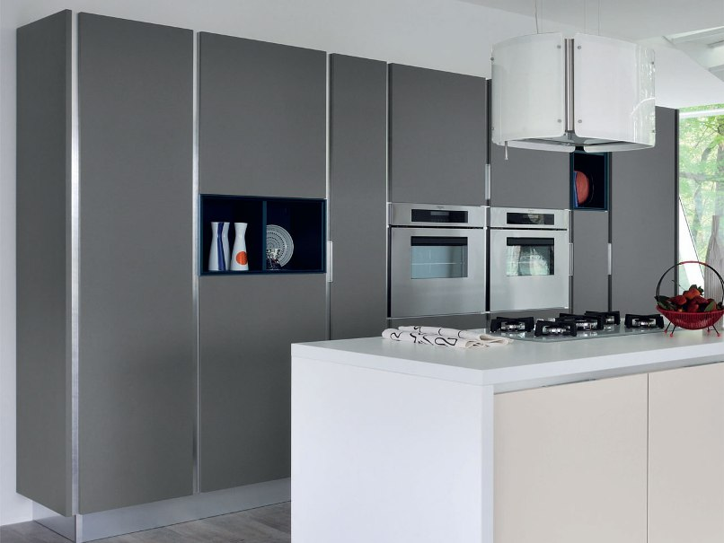 Should You Buy A Handleless Kitchen - Matt grey kitchen cupboards