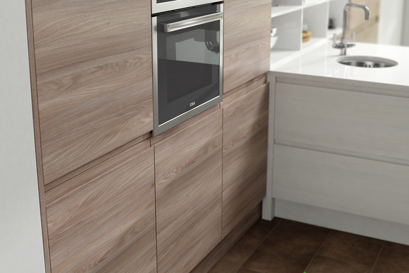 budget suppliers launch new handleless wood kitchens. Black Bedroom Furniture Sets. Home Design Ideas