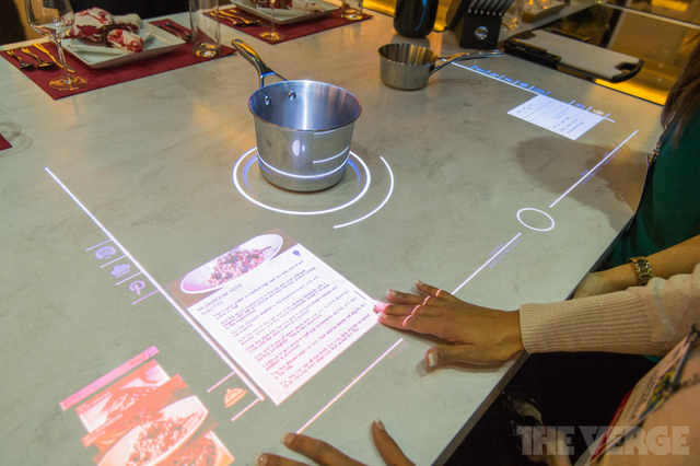 Interactive Induction Hob That Displays Recipes Facebook