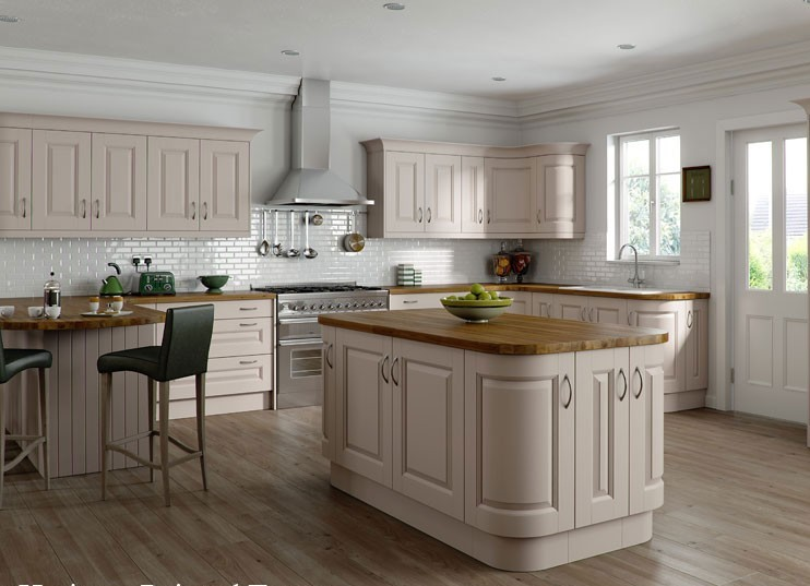 The pros cons of kitchen curves for Curved kitchen units uk