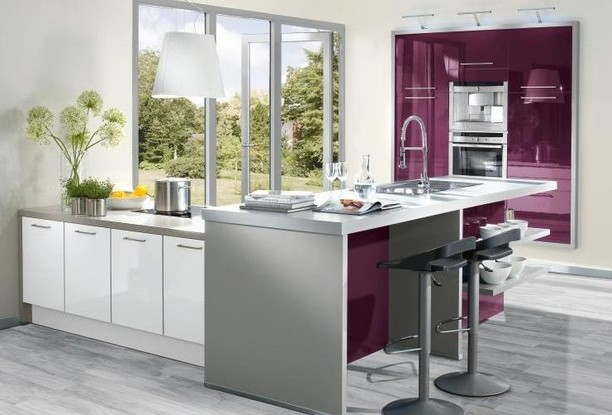 Lacquered gloss kitchen 6