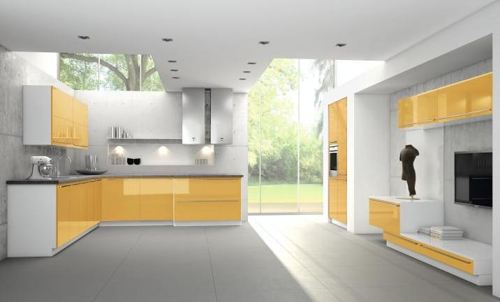 Lacquered gloss kitchen 9