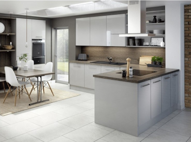 Light Grey Gloss Kitchen